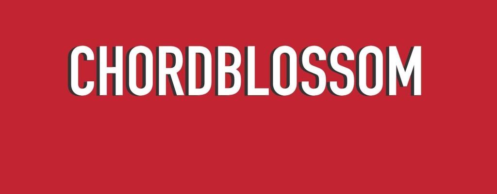 chordblossom - text logo