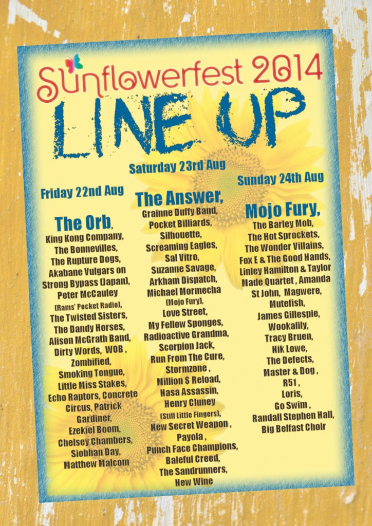 sunflowerfest 2014 final lineup poster