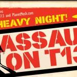 assault on t13 metal gig poster reduced header