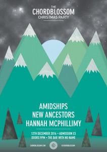 chordblossom christmas party - amidships new ancestors hannah mcphillimy