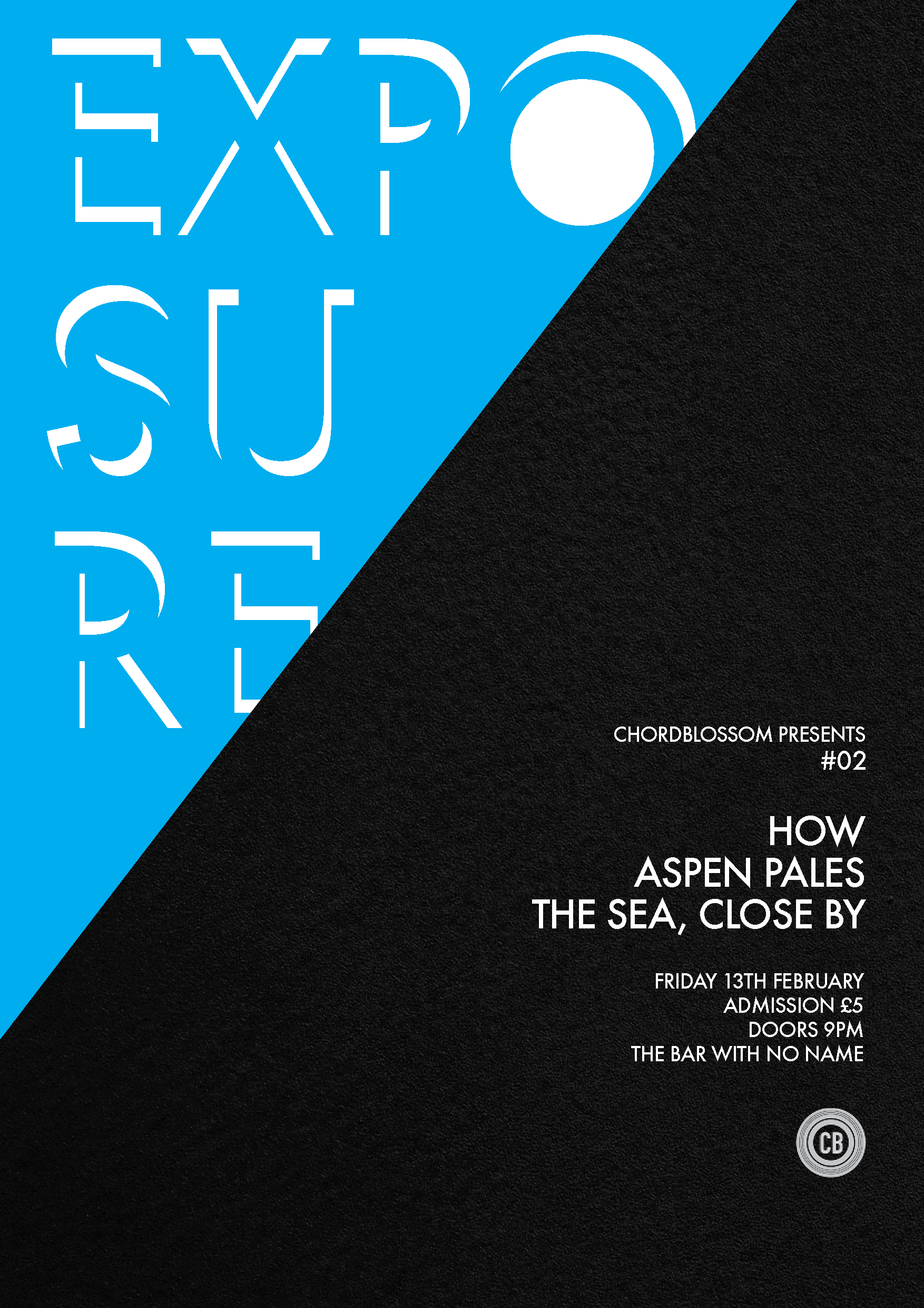 chordblossom exposure #02 gig poster