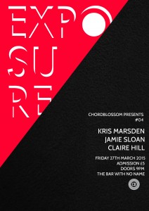 chordblossom exposure #04 gig Poster