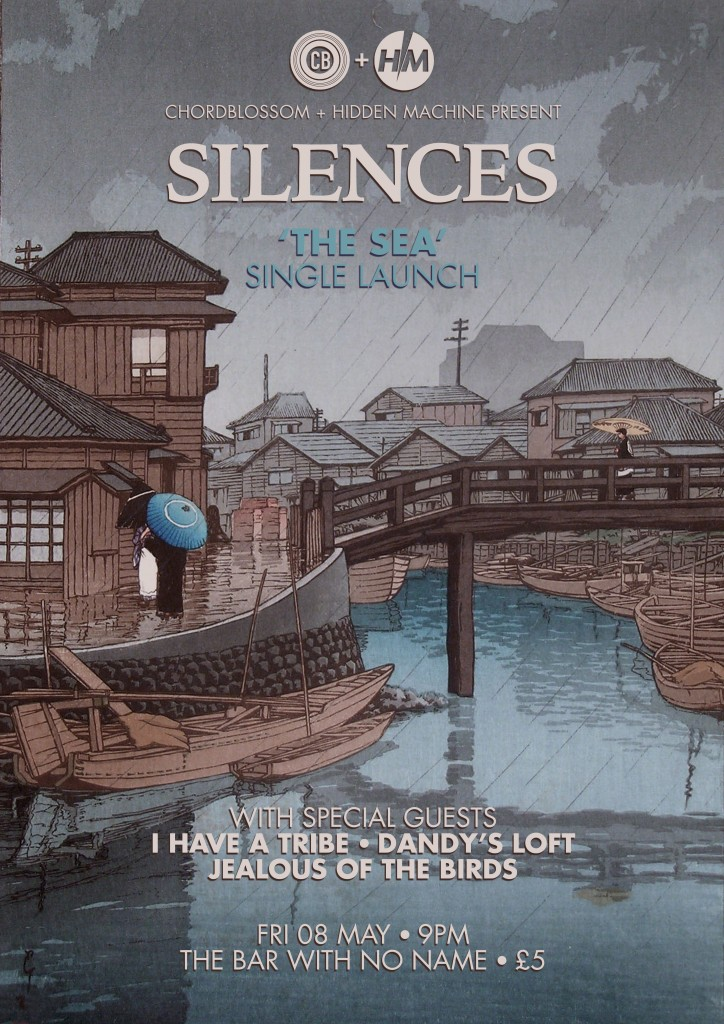 Silences - the sea single launch poster