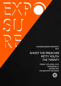 chordblossom exposure #05 gig Poster - Full