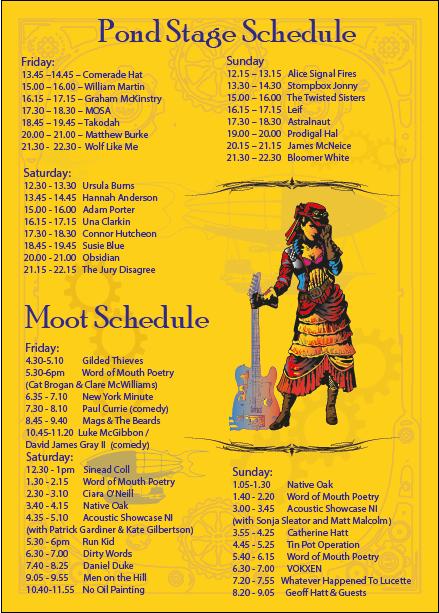 sunflowerfest 2015 - stage times main - part 2