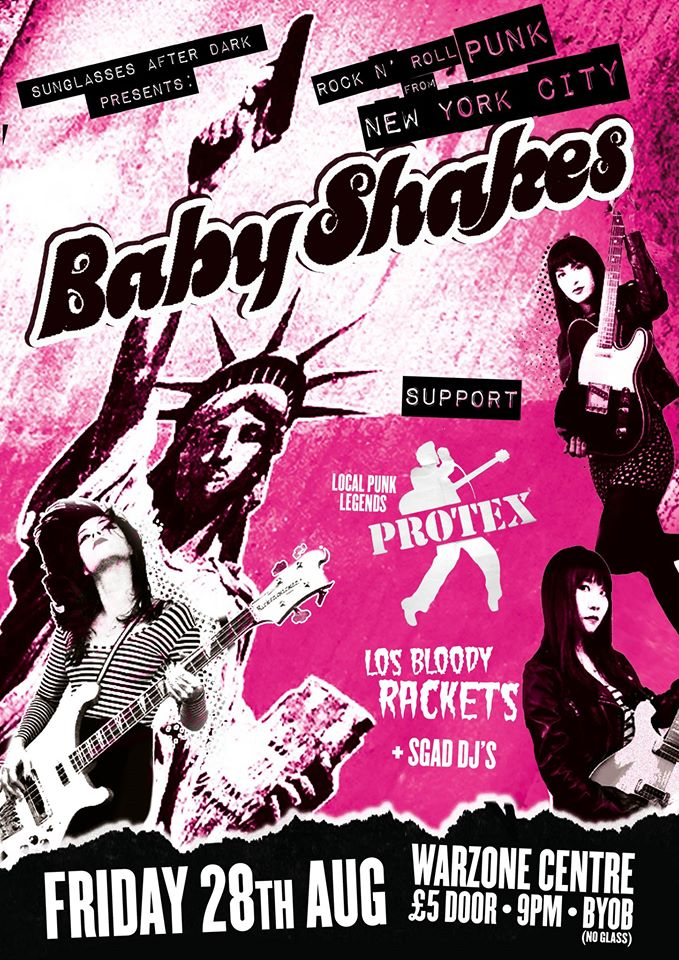 baby shakes gig poster