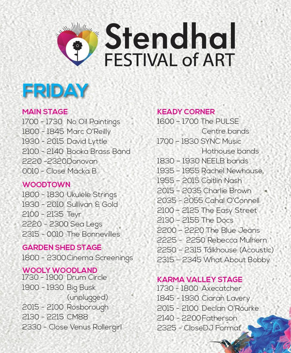 stendhal 2015 friday lineup