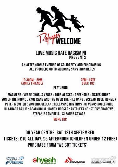 refugees welcome gig poster
