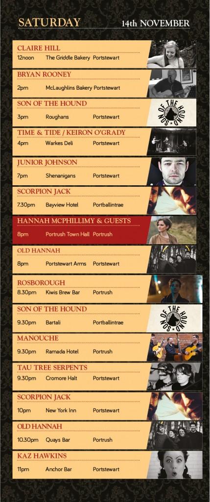 atlantic sessions 2015 - saturday lineup