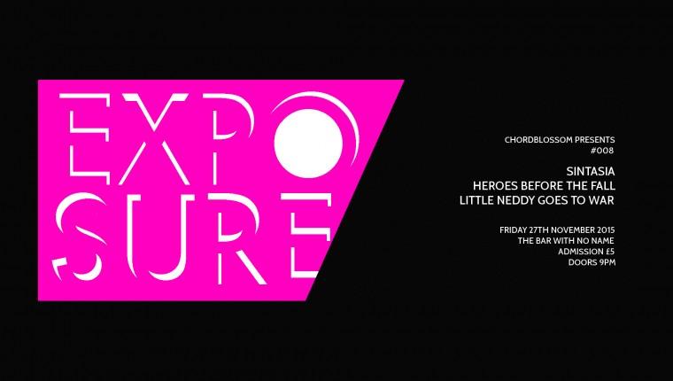 chordblossom exposure #08 gig Poster - website version