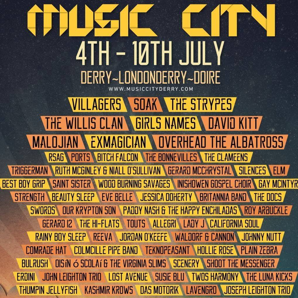 derry music city 2016 full poster