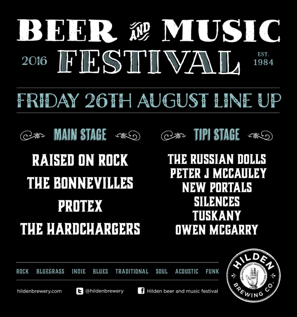 friday lineup Hilden beer and music festival 2016