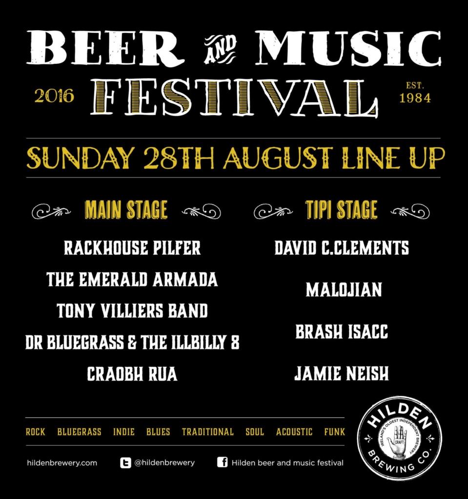 sunday lineup Hilden Beer & Music Festival 2016