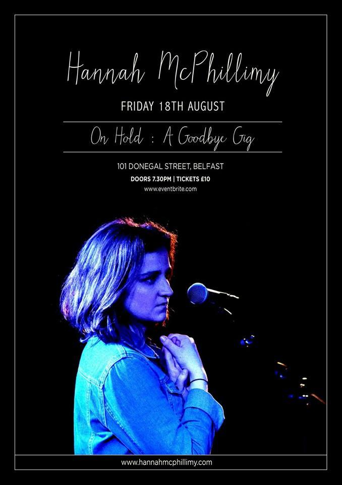 hannah mcphillimy farewell gig poster