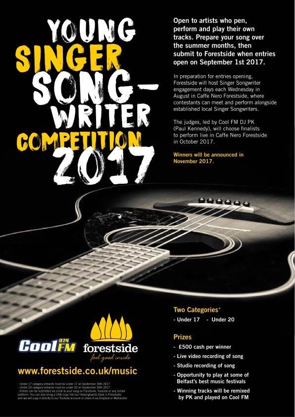 Forestside Young Singer Songwriter Competition Poster