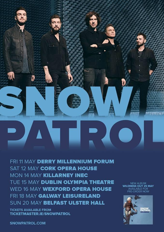 snow patrol irish tour 2018