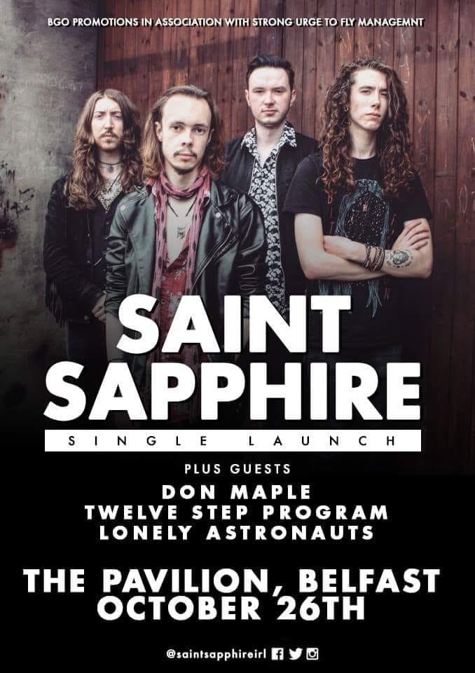 saint sapphire gig poster