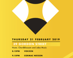 Chordblossom Output Belfast Showcase 2019 Poster
