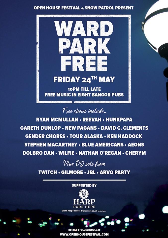 ward park free gig poster